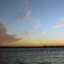 夕方の浜名湖のほんのりオレンジ色に彩るこの景色は、心和む時間☆