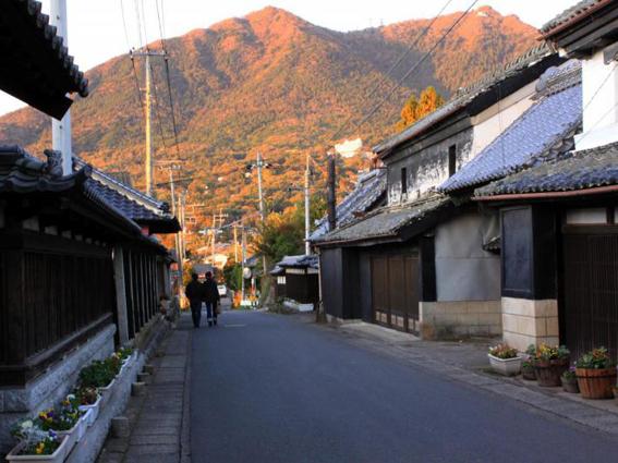 紅葉の筑波山と「つくば道」/つくば市県道139号線