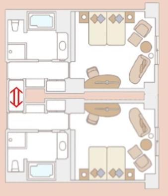 【夏の家族やグループ旅行に】2部屋が繋がるコネクティングルーム特別プラン(素泊まり)
