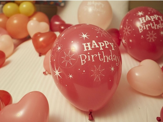 【誕生日】バルーンベッドメイクでお連れ様にサプライズ♪(入園保証なし)