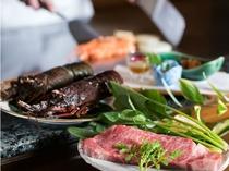 鉄板焼「羽衣」のアニバーサリーコースディナー(イメージ)