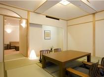ゆとりある61㎡の和室スイートルーム「和室+洋室」