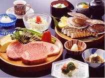鉄板焼「羽衣」の和牛とシーフードディナー(イメージ)