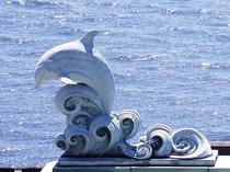 イルカの彫刻