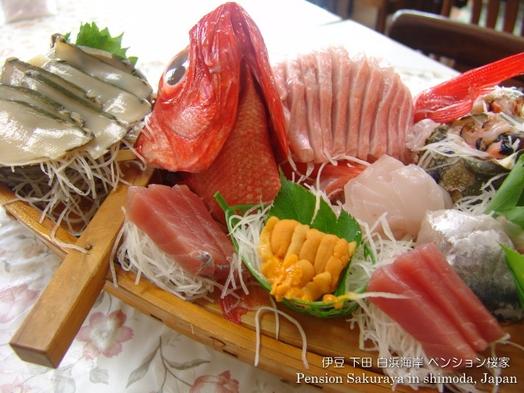 「わぁ、見て!お刺身、すご〜い♪」新鮮な伊豆の地魚をお得に!舟盛りプラン 1泊2食付