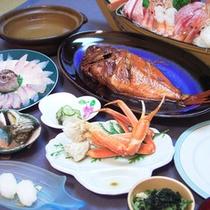 *料理一例/金目鯛のしゃぶしゃぶコース。出汁のきいた熱い湯にさっとくぐらせ脂の旨味をご堪能ください。