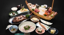 *夕食一例/しゃぶしゃぶ付プラン!プチグルメさんおすすめ♪獲れピチの鯛のしゃぶしゃぶを召し上がれ!