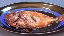 *夕食一例/伊豆ならではの海の幸!全てのプランのご夕食に金目鯛の煮付けをお出しします。