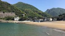 *【雲見海水浴場】ダイビングスポットとして有名な雲見海水浴場。