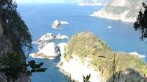 【雲見の風景】烏帽子山から眺め。青い海が水平線まで続いています。