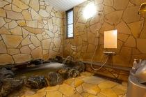 岩風呂浴室