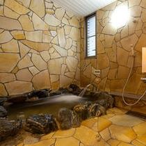 岩風呂お部屋の浴槽
