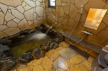 岩風呂のお部屋の浴室