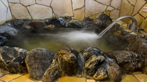 岩風呂ゴツゴツ岩