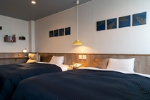 blue moment301号青く落ち着いた色を基調としてお部屋