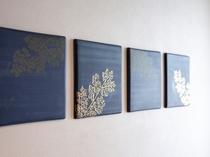 blue moment301号 壁面の陶板