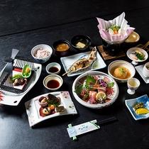 *【夕食一例】旬の食材を盛り込んだお料理です。