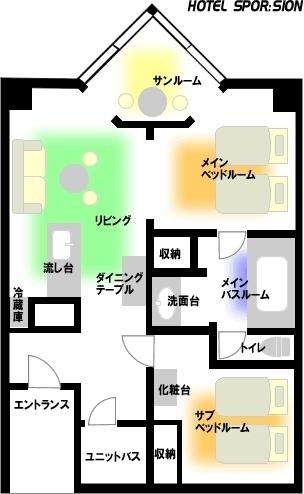 【ホテルスポルシオン間取り例】