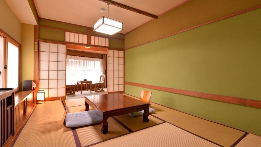 *和室10畳(客室一例)/寛ぎ和室で団欒のひと時をお過ごし下さい。無線LANご利用いただけます