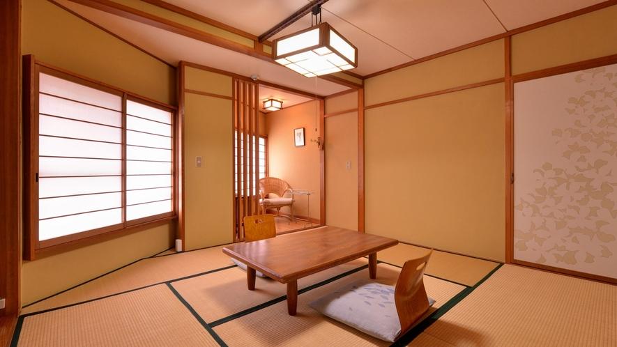 *和室7〜8畳(客室一例)/一人旅でのご宿泊にオススメ!足を伸ばしてのんびりとお寛ぎ下さい