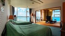 ◆【客室】【デラックス和洋室】お部屋の二面にわたる大きな窓が人気!