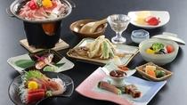 ◆【食事/夕食スタンダード/春】 海鮮と山の幸の競演