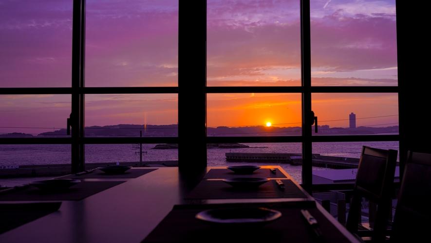 日間賀島の夕陽