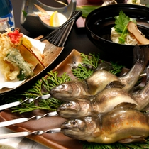スタンダードプランのお料理(岩魚)