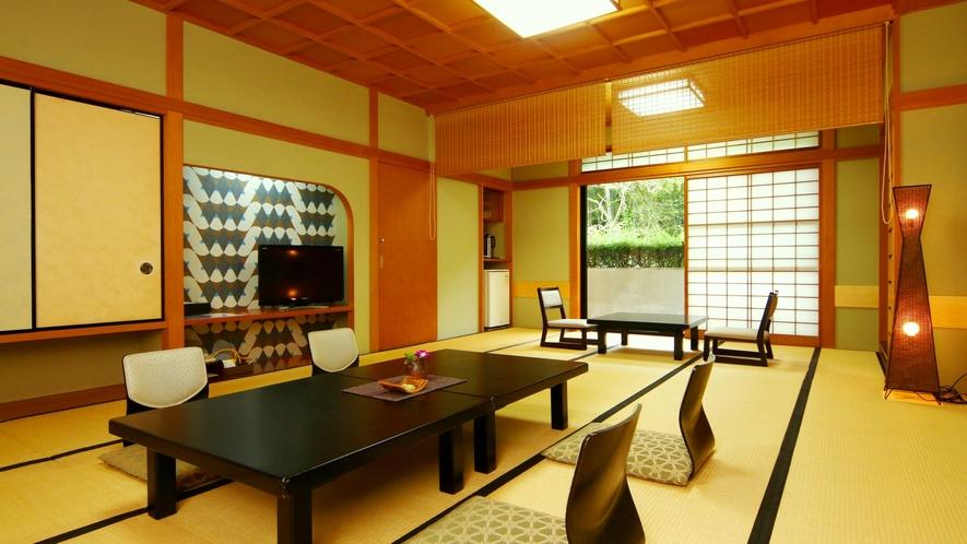 客室◆意匠を凝らした純和風造り客室はひとつひとつ異なるデザインでお得意様にも大変好評です。