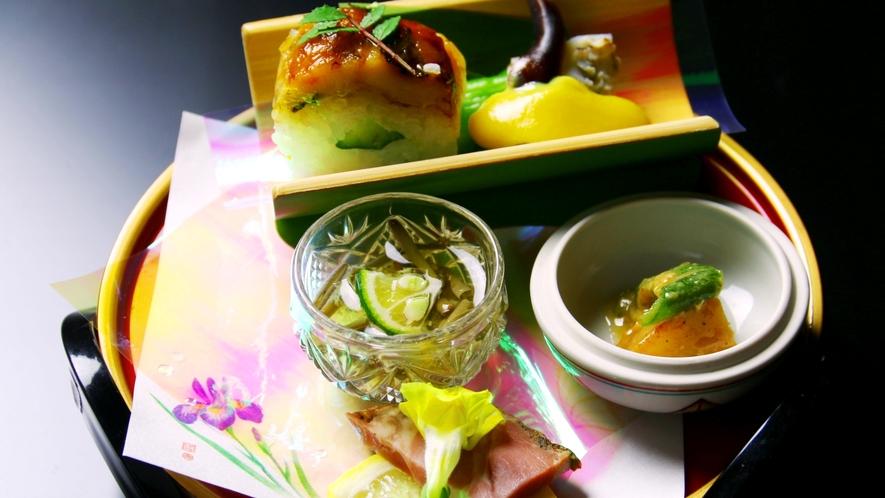 春料理の一例。春らしい前菜。