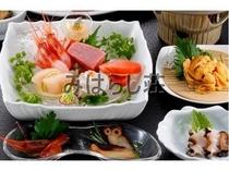 3種類のあわびつき海鮮満喫プラン一部