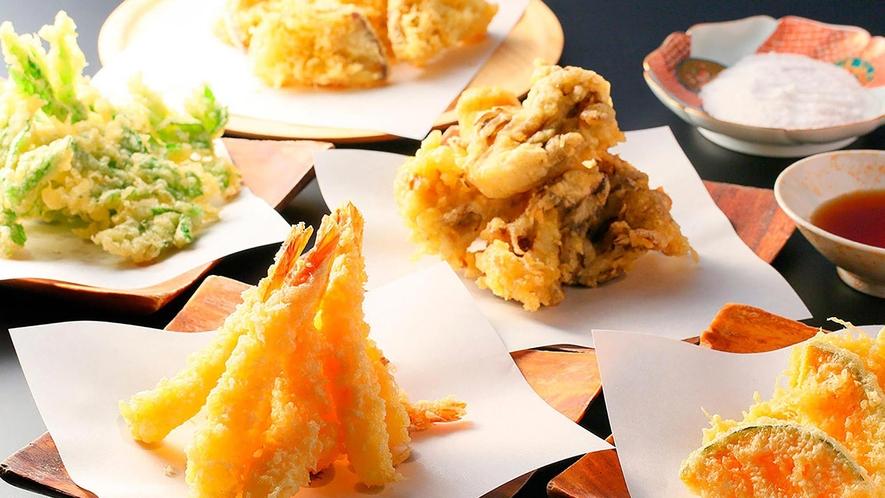 旬の食材でお作りするアツアツの天ぷら