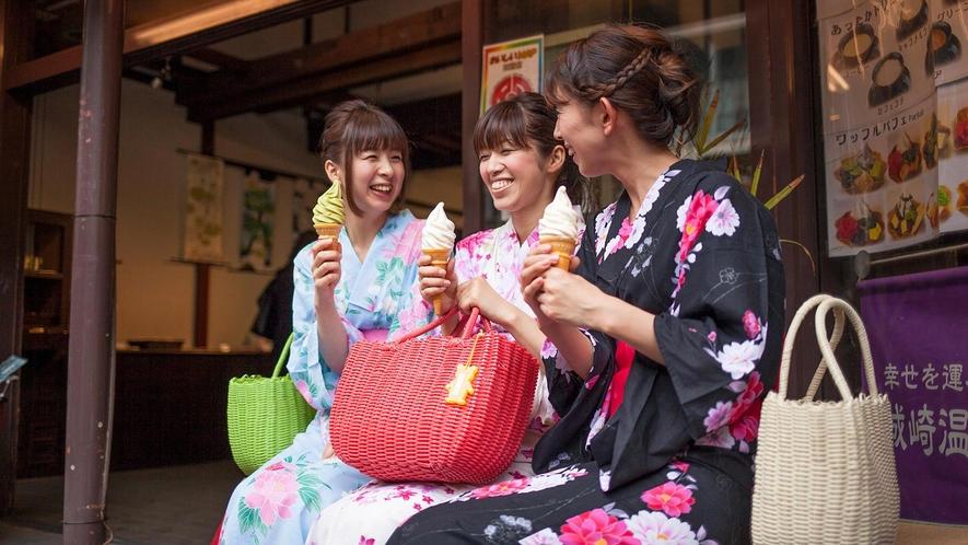【外湯プラン】とくとくチケットを使ってソフトクリームを食べよう!!