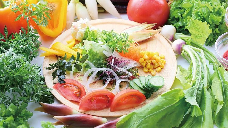 野菜たっぷりヘルシーメニューも充実!