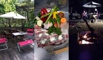 夕食付プランのBBQは豪快&創作素材で大満足!