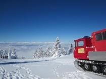 スノーキャットで根子岳山頂へ!