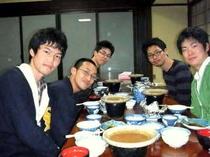 学生さんのグループ夕食完食でした