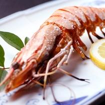 夕食和食-海老焼き*