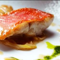 夕食洋食-魚のポアレ*