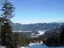 パノラマコースから糠平湖を望む