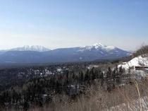 三国峠から望む大雪の山々