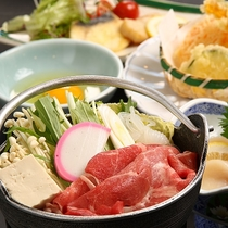 ご夕食【お料理グレードアップ】牛すき鍋コース☆