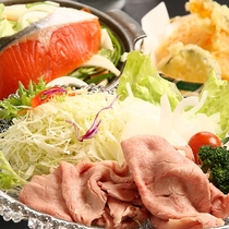 ご夕食【お料理グレードアップコース】牛冷しゃぶサラダコース☆