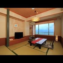 【一般和室】スタンダードな部屋タイプの和室8畳☆オーシャンビュー