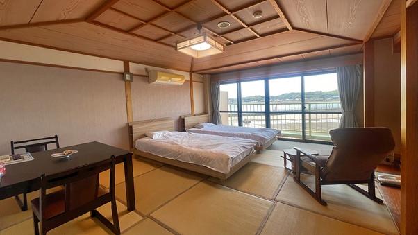 ツインベッド和室8畳【全室オーシャンビュー!】