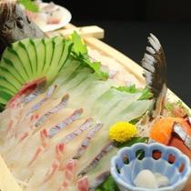 新鮮なお刺身の舟盛 一例