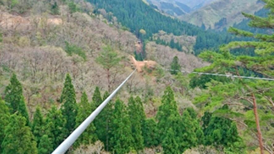 *【メガジップライン】距離・地上高が日本一!