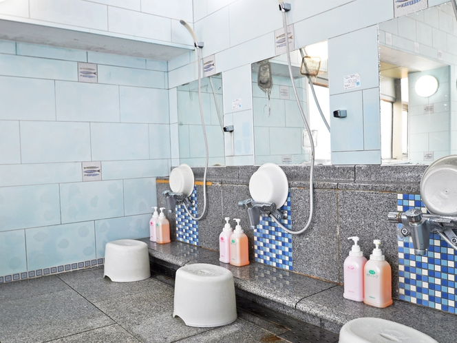 【男性展望浴場 洗い場】