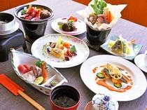 【夕食一例:ときめきプラン】※仕入の状況により、料理の内容が変わる場合があります