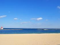 【ときめきビーチ】3月下旬~6月上旬は潮干狩り、7月~8月下旬は海水浴場としてにぎわうリゾートビーチ